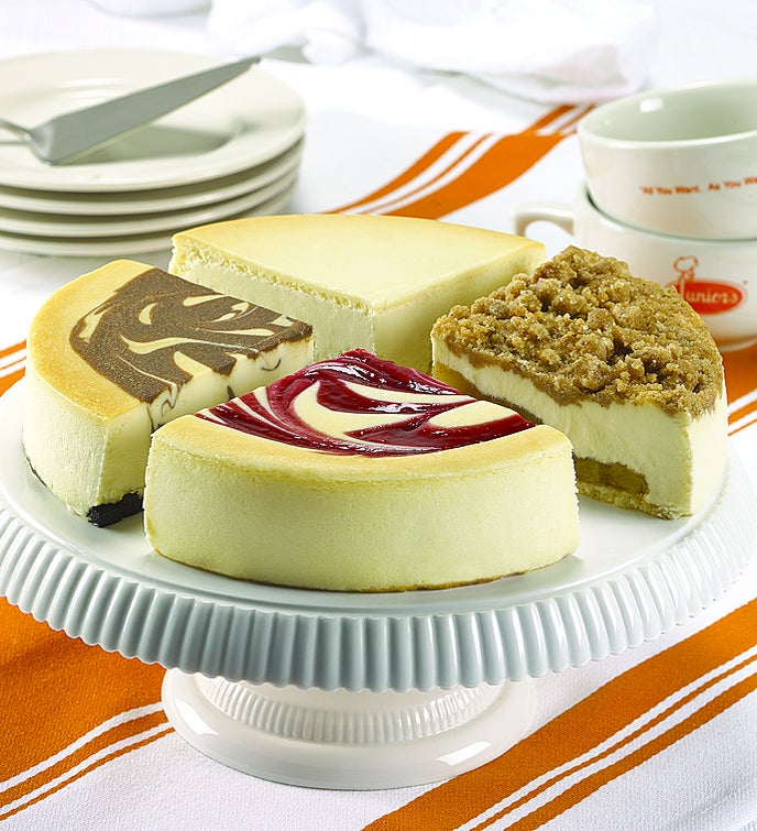 Best of Junior's 4-Flavor Cheesecake Sampler