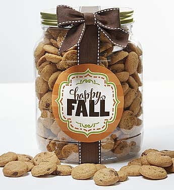 Happy Fall! Chocolate Chip Cookie Jar