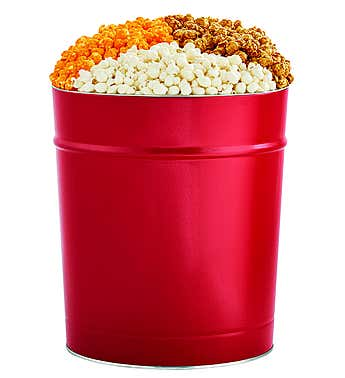 The Popcorn Factory 3.5G Red Tin - 3 Flavors