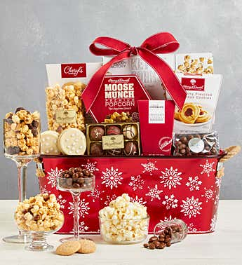 Sparkling Snow Sweets & Treats Basket
