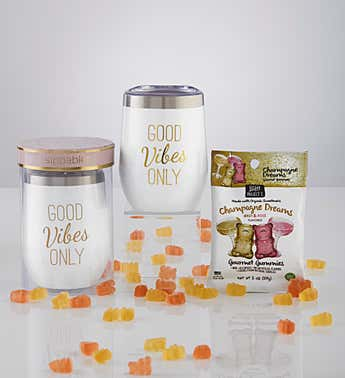 Sippable™ Good Vibes Tumbler Cup with Gummies