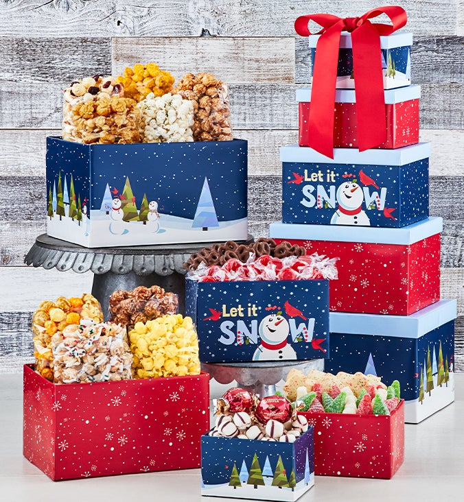 The Popcorn Factory® Snow Much Fun 5 Box Tower