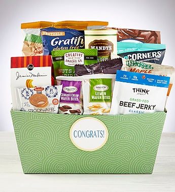 Congrats to You! Snacks & Sweets Gift Basket