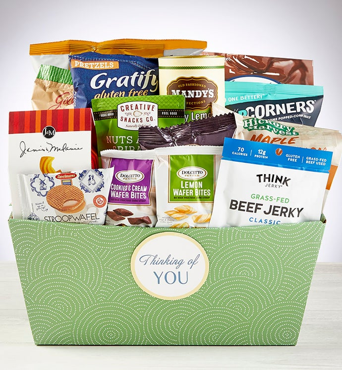 Thinking of You, Snacks & Sweets Gift Basket