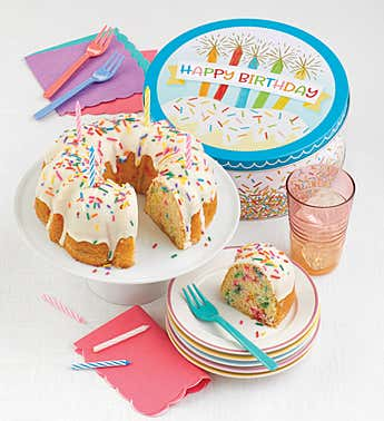 Cheryl's Happy Birthday Confetti Cake Tin