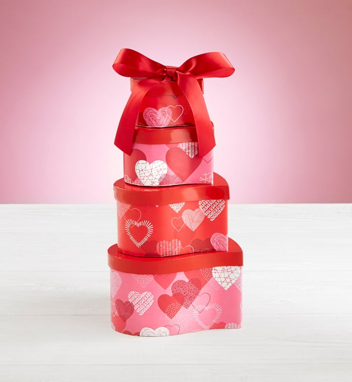 Hearts Afire Valentine Chocolate & Sweets Tower