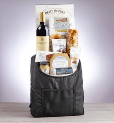 On the Go Backpack Cooler with Snacks and Wine