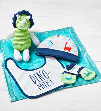 Dinosaur 5 Piece Welcome Home Gift Set