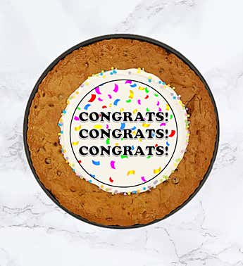 "SPOTS NYC 12"" Congrats Cookie Cake"