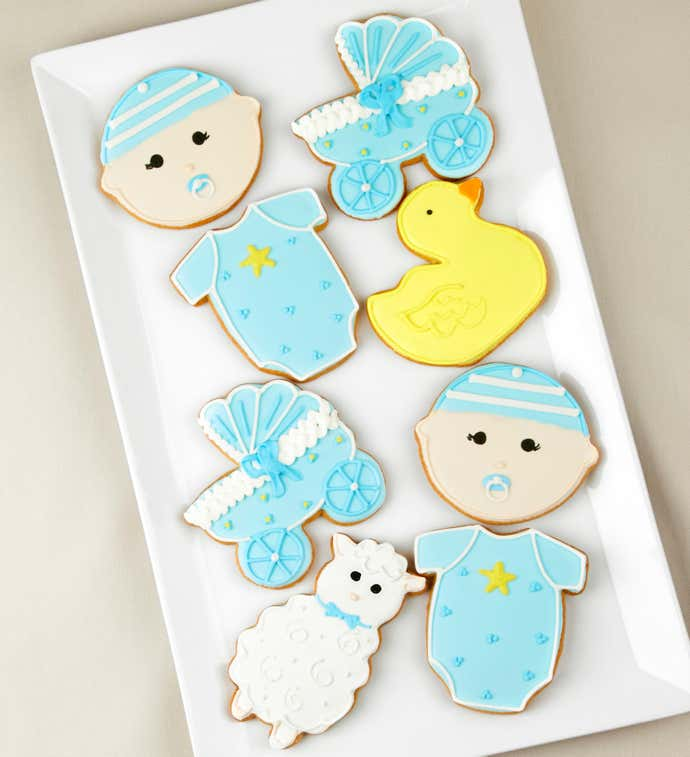 Welcome Baby Boy! Artisan Iced Cookies
