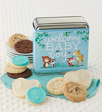 Cheryl's Welcome Baby Boy Assorted Tin
