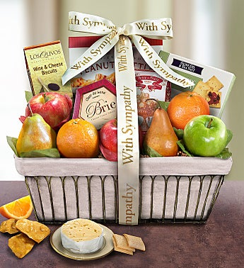 With Deepest Sympathy Fruit Gift Basket