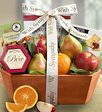 In Loving Memory Fresh Fruit Sympathy Basket