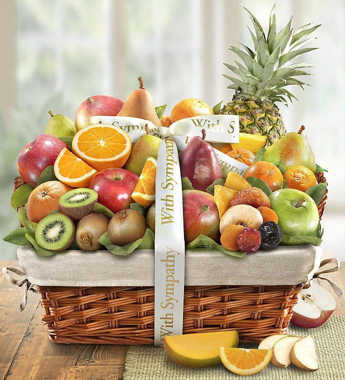 Wishing You Peace Sympathy Fruit Basket