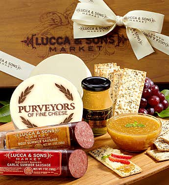 Lucca & Sons™ Sausage & Cheese Gift Box